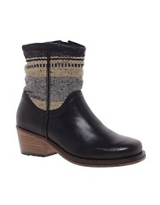 H by Hudson Camino Black Heeled Zip Ankle Boots