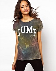 ASOS T-Shirt with Jump in Multi Acid Wash