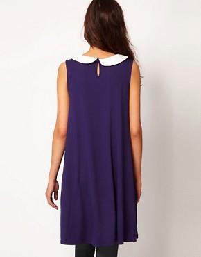 Image 2 ofASOS MATERNITY Swing Dress With Peter Pan Collar