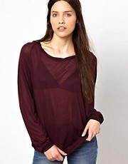 American Vintage Round Neck T-Shirt with Long Sleeves