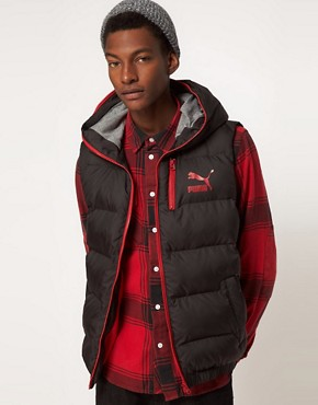 Image 1 ofPuma Down Hooded Gilet