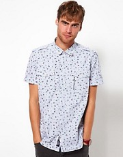 Diesel Shirt Short Sleeve Spirk Floral Stripe