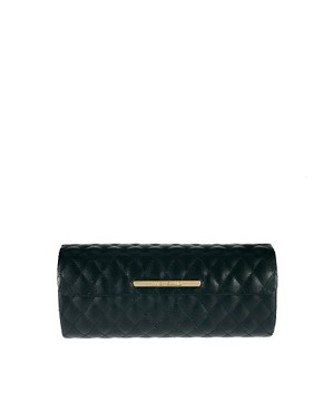 Image 1 of River Island Black Quilted Sunglasses Case