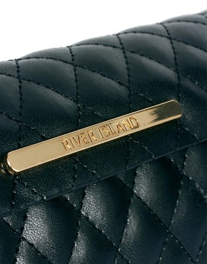 Image 3 of River Island Black Quilted Sunglasses Case