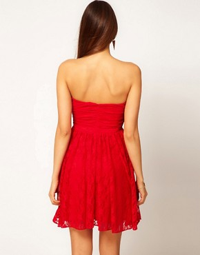 Image 2 ofASOS PETITE Exclusive Swing Dress In Lace