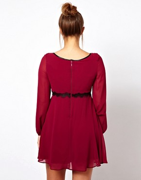Image 2 ofASOS CURVE Dress With Embellished Lace Trim