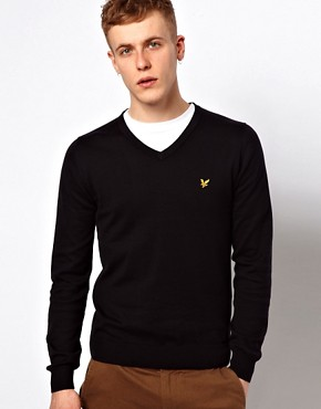 Image 1 ofLyle &amp; Scott Vintage Jumper with V Neck