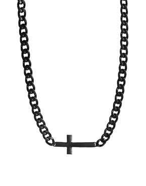 Image 1 ofASOS Cross ID Necklace
