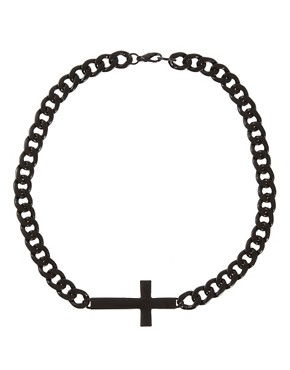 Image 2 ofASOS Cross ID Necklace