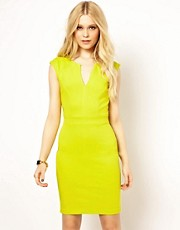 River Island V Neck Bodycon Dress