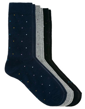 Image 1 ofASOS 3 Pack Multi Spot Socks