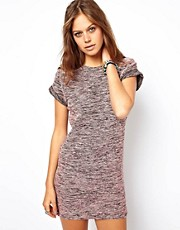 ASOS Knitted Dress With Rolled Sleeves
