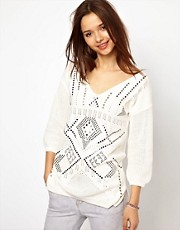 River Island Aztec Stud Sweater