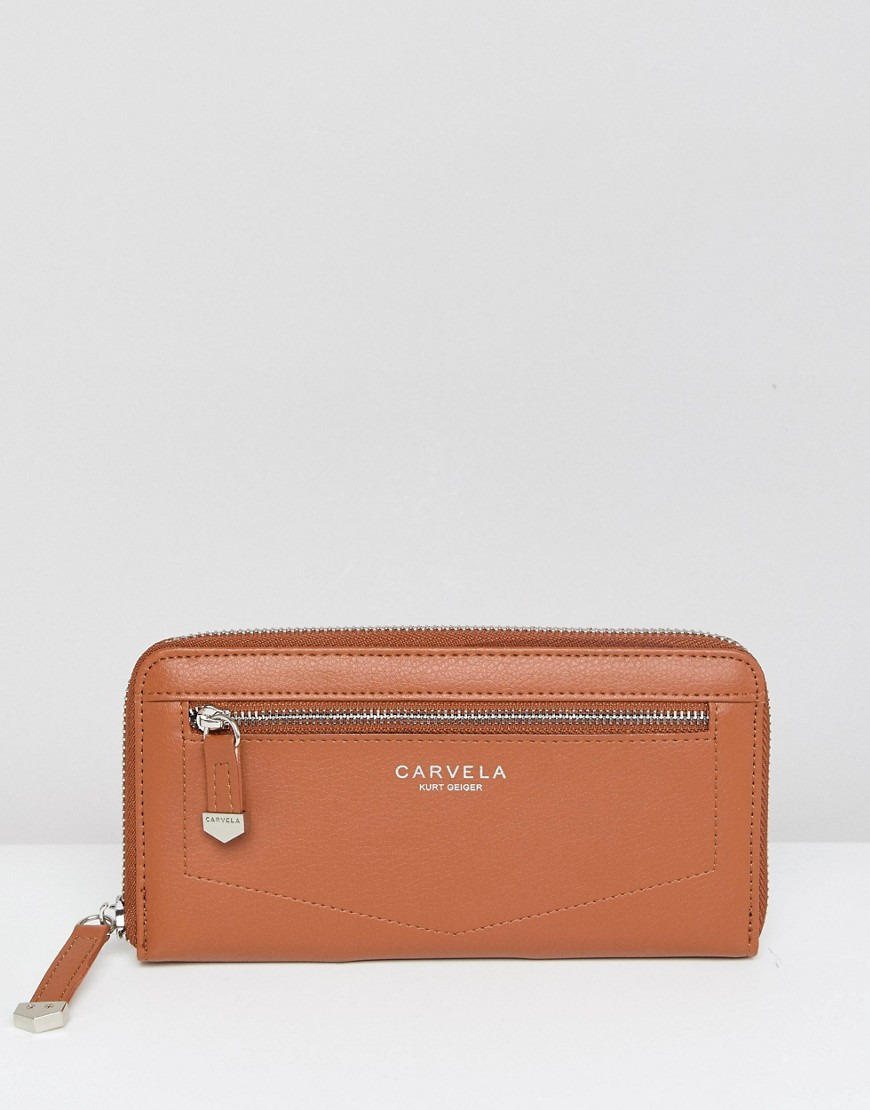 Carvela Zip Purse - Tan