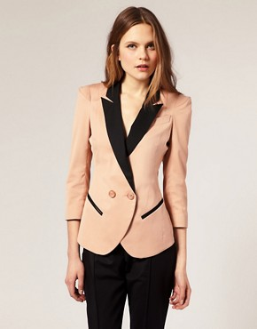 Image 1 ofASOS Blazer With Contrast Lapels