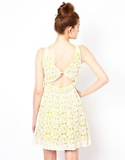 Greylin Valencia Lace Dress With Open Back