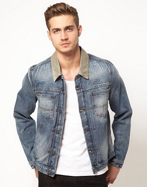 Image 1 ofASOS Denim Jacket with Contrast Collar