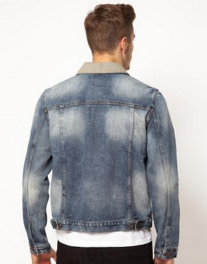 Image 2 ofASOS Denim Jacket with Contrast Collar