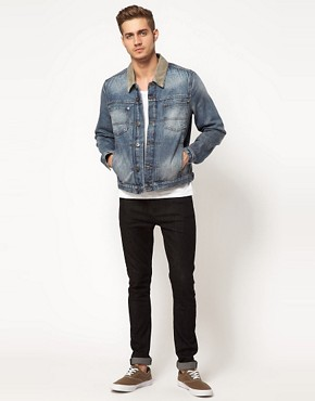Image 4 ofASOS Denim Jacket with Contrast Collar
