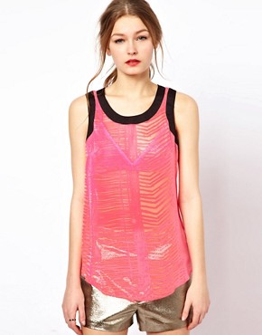 Image 1 ofA Wear Dipped Hem Cami