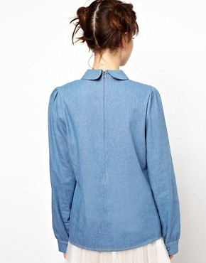 Image 2 ofThe WhitePepper Denim Collar Blouse