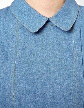 Image 3 ofThe WhitePepper Denim Collar Blouse