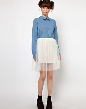 Image 4 ofThe WhitePepper Denim Collar Blouse