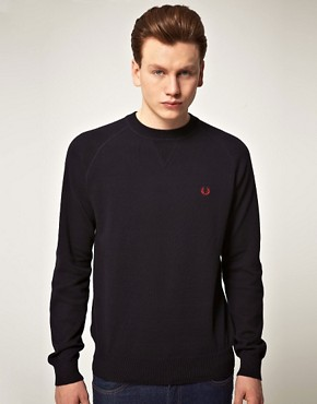 Bild 1 von Fred Perry  Melierter Vintage-Pullover mit Rundhalsausschnitt