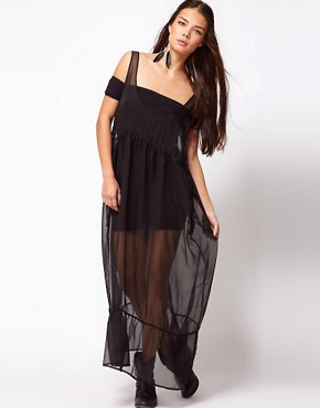 Image 1 ofOne Teaspoon Best Woman Wins Sheer Maxi Dress