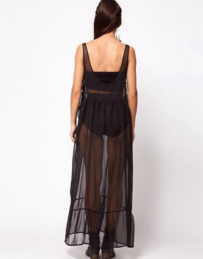 Image 2 ofOne Teaspoon Best Woman Wins Sheer Maxi Dress