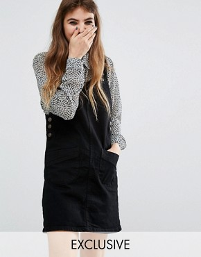 Reclaimed Vintage Denim Pinafore Dress