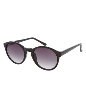 Image 1 ofASOS Black Keyhole Round Lens Sunglasses