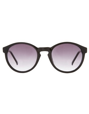 Image 2 ofASOS Black Keyhole Round Lens Sunglasses