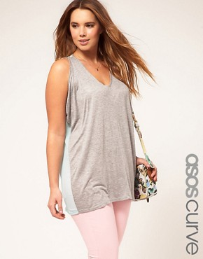 Image 1 ofASOS CURVE Exclusive Top With Chiffon Back
