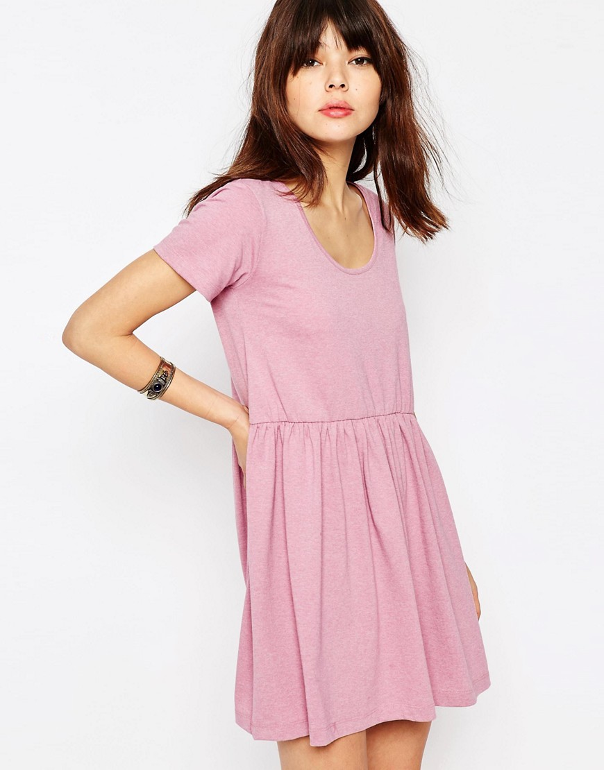 ASOS Smock Dress with Short Sleeve - Pink