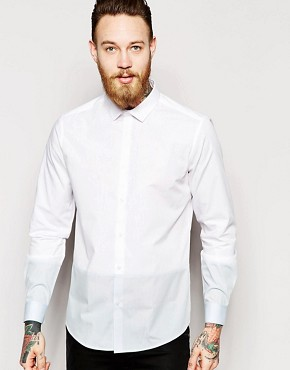 ASOS Shirt In Long Sleeve With Cut And Sew Panels