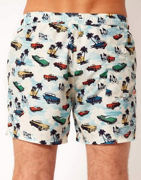 Image 2 ofRiver Island Car Print Swimshorts