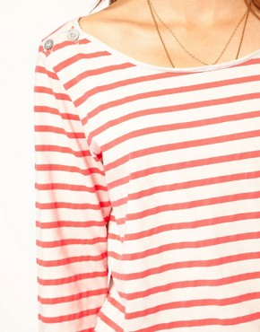 Image 3 ofMaison Scotch Breton T-Shirt in Fleuro Stripe