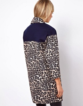 Image 2 ofASOS Blocked Cheetah Coat
