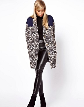 Image 4 ofASOS Blocked Cheetah Coat