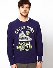 Franklin &amp; Marshall Sweatshirt with Break Down Graphic
