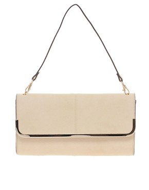 Image 1 ofWarehouse Soft Metal Bar Clutch Bag