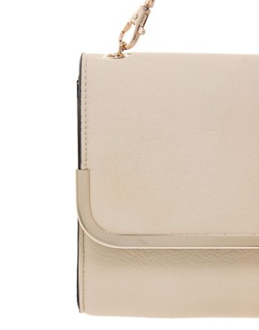 Image 4 ofWarehouse Soft Metal Bar Clutch Bag