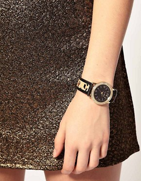 Image 3 ofRiver Island Watch With Leopard Print Strap