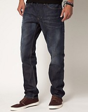 Diesel -  Larkee 802D - Jeans stretti in fondo