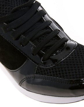 Image 2 ofASOS DOMINO Trainers with Suede Detail