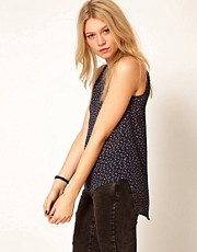 Oasis Printed Dipped Hem Tank