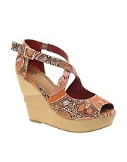 ASOS HETTY Wedges with Cross Strap