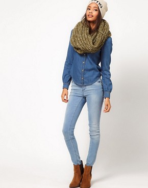 Image 3 ofASOS Extra Long Funnel Knit Snood