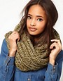 Image 1 ofASOS Extra Long Funnel Knit Snood